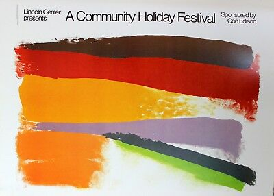 Friedel Dzubas Lithograph A Community Holiday Festival Lincoln Center 1980