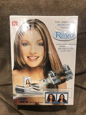 NEW  REVO Styler ATS Rotating Cordless Electric Hair Styling Brush SEALED