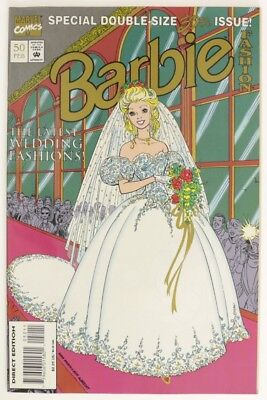 ESZ7098. BARBIE FASHION #50 From Marvel Comics 6.0 FN (1993) Double Size 50th `