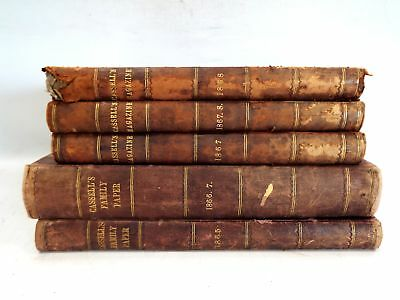 Antique 2X CASSELL'S FAMILY PAPER 1866-67 3X CASSELL'S MAGAZINE 1865-68 - SA5