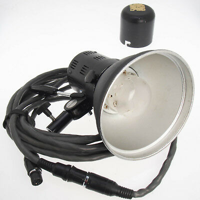 Comet Flash Lamp Head 2400WS w Reflector, Transport Cover, Cable - Bad Glass