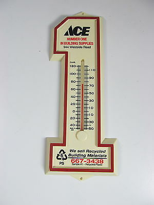 Vintage Ace Harware #1 Plastic Thermometer