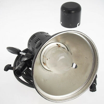 Comet Flash Lamp Head 2400WS w Reflector, Transport Cover, Long Cable, Bad Glass