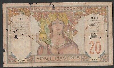 20 Piastres From Indochina