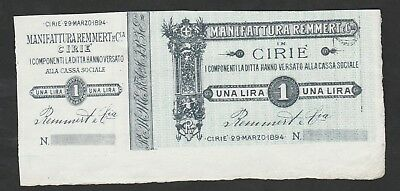 1 LIre From Italy 1894 Unc
