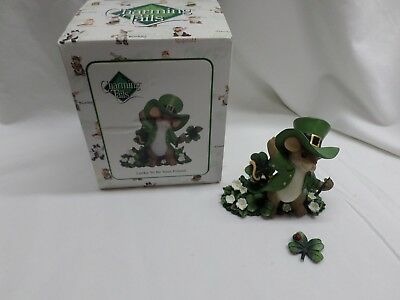 "CHARMING TAILS BY FITZ & FLOYD FIGURINE ""LUCKY TO BE YOUR FRIEND "" **Broken**"
