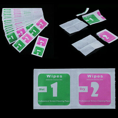 2 in 1 Set Wet Dry Wipes For Smart Phone and Tablet Screen Cleaning Alcohol Wipe