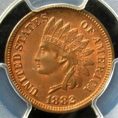 1882 Indian Head Cent - PCGS MS64 RB - Certified & Graded Lustrous Penny