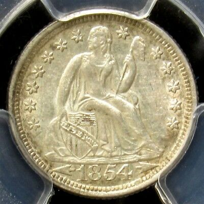 1854-O Seated Liberty Dime - PCGS AU53 - Certified & Graded Silver with Arrows