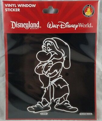 Disney Parks Grumpy Vinyl Window Sticker Decal Car Vehicle WDW DLR Snow White