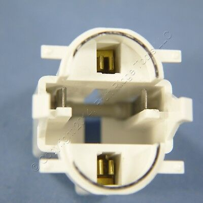 Leviton Compact Fluorescent Lamp Holder Light Socket Top Snap-In Bulk 26720-300