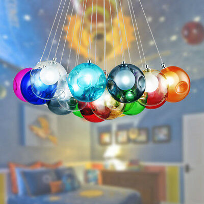 Multi-Color Glass Bubble Mirror Ball Ceiling Pendant Light Modern Lamp Lighting