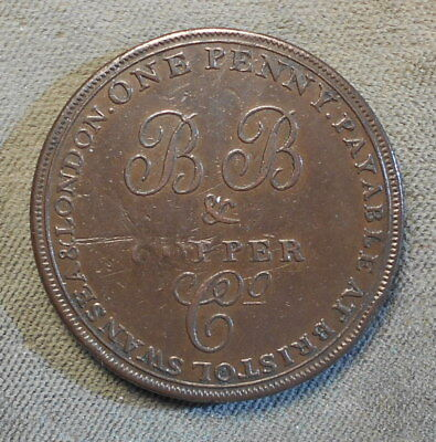 Bristol England Bristol Brass & Copper Co. 1811 One Penny Withers-440