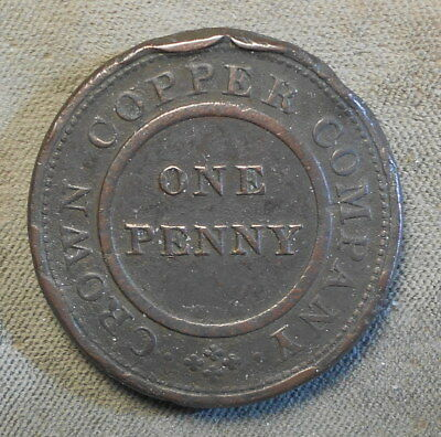 Birmingham England Crown Copper Co. 1811 One Penny Withers-228