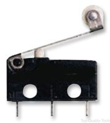 Microswitch, Snap Action, Roller Lever, SPDT, Solder, 6 A