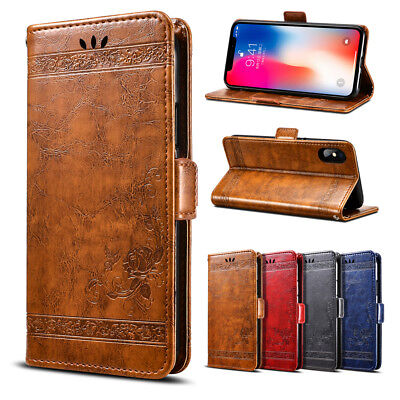 Magnetic Flip Leather Case Card Wallet Cover Stand For Samsung Galaxy Phones