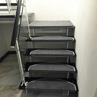 yazi Grey Carpet Stair Tread Mats Step Staircase Floor Mat Non Slip Cover Pads