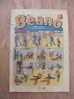 1965 The Beano Comic dated Feb 20th 1965 - in ok condition  - number 1179