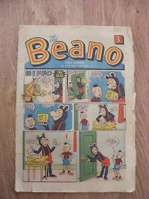 1966 The Beano Comic dated Dec 17th 1966 - in ok condition  - number 1274
