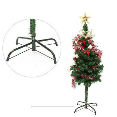 Christmas Tree Stand Mount Green Metal Holder Base Support 4 Feet Decor New CB
