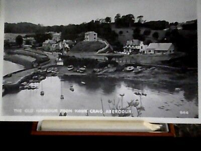 post card the old harbour from hawk craig aberdour fife no644 unposted
