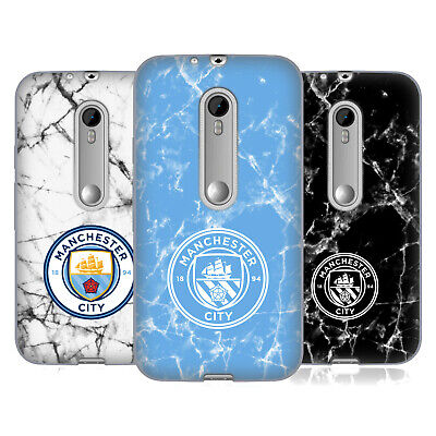 Manchester City Man City Fc 2017/18 Marble Badge Gel Case For Motorola Phones 2