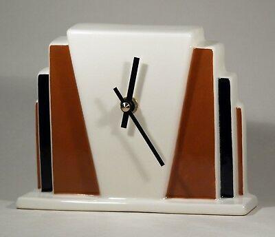 Echo Of Deco Art Deco Inspired Ceramic Miami Beach Mantel Clock
