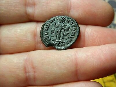 Un - Researched Roman Bronze coin Emperor London mint ? metal detecting detector