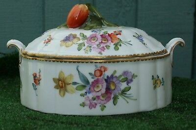 SUPERB NYMPHENBURG of GERMANY PORCELAIN, CERAMIC TUREEN & COVER of ANTIQUE YEARS