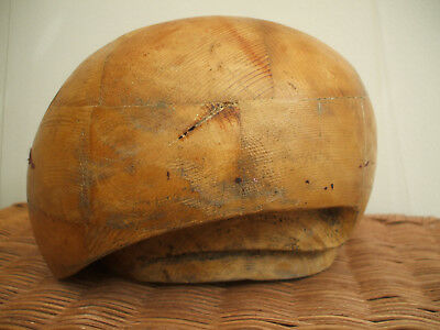 Vintage Wooden Millinery Hat-Block/form/mold/brim (For Berets?)