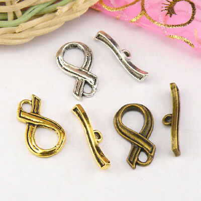 6Sets Tibetan Silver,Antiqued Gold,Bronze Connectors Toggle Clasps M1413