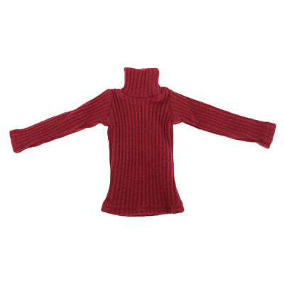 1/6 Scale Male Fashion Turtleneck Sweater Red for 12'' Action Figure Hot Toy