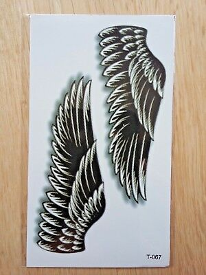 WING TEMPORARY TATTOOS 110mm X 60mm T067