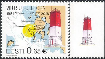 Estonia 2016 Lighthouse/Maritime Safety/Buildings/Architecture/Maps 1v (ee1218)
