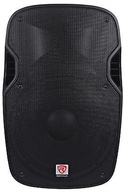 "Rockville SPGN158 15"" Passive 1600W DJ PA Speaker ABS Lightweight Cabinet 8 Ohm"