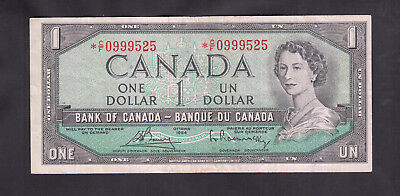 1954 Canada 1 Dollars Replacement Bank Note Bouey / Rasminsky