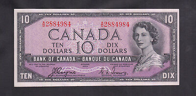 1954 Canada 10 Dollars Devil Face Bank Note Coyne / Towers