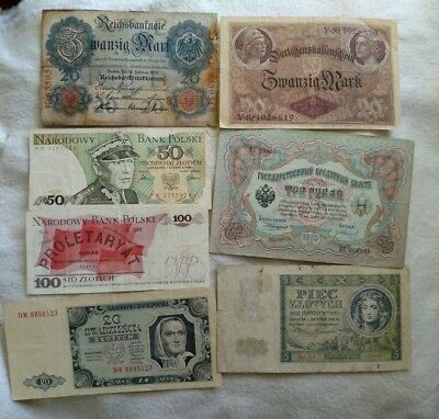 World Banknote collection Russia , Poland,Germany