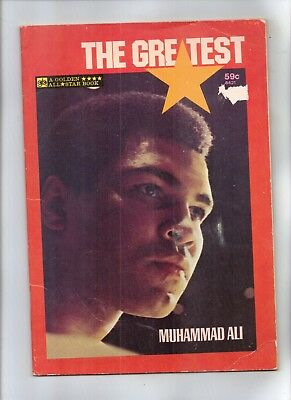 THE GREATEST -- MUHAMMAD ALI  Golden All Star Book with PHOTO BACK COVER