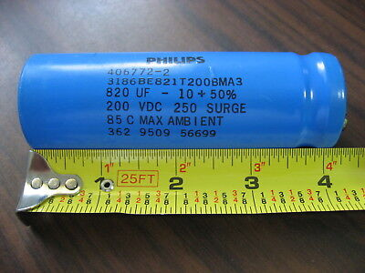 Philips 3186BE821T200BMA3 Capacitor (820 UF, 200 VDC)