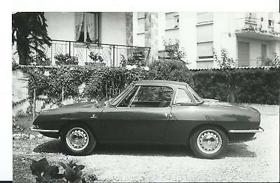 Fiat 850 Spider With Hard Top Original Photograph Excellent Condition