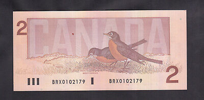 1986 Canada 2 Dollars Replacement Bank Note Thiessen / Crow