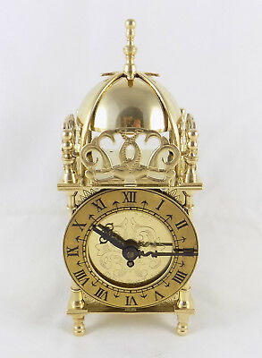 EXCELLENT 1950s SMITHS 'NELL GWYNNE' 8 DAY LANTERN CLOCK - CLEANED & SERVICED