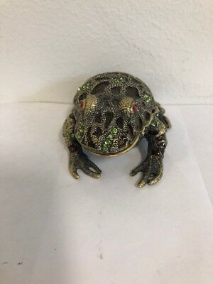 Saro Trading Co Decorative Bejeweled  Frog Box