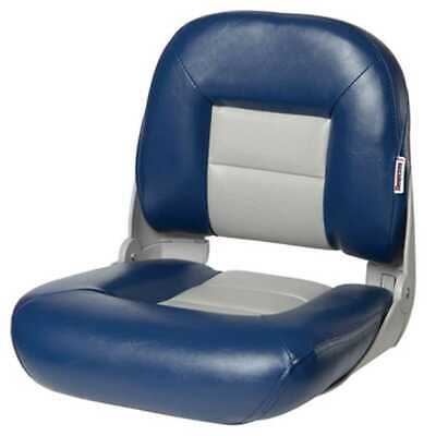 Tempress 54672 NaviStyle Low-Back Blue/Gray Boat Seat Marine Seating