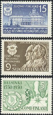 Finland 1950 Helsinki/Cathedral/Town Hall/Plan/People/Buildings/Maps 3v  n43007d