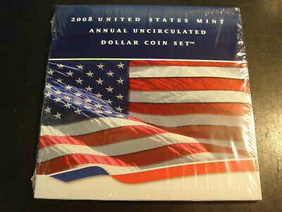 2008 US Mint Annual Uncirculated Dollar Coin Set SEALED has 2008-W Silver Eagle
