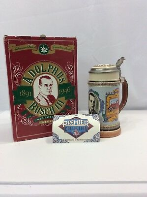 Anheuser-Busch BEER Stein #3 in  Founders Series Adolphus Busch III in BOX 1994