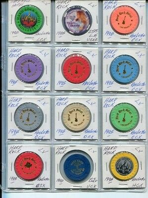 $$$ Group Lot 12 All Different Nevada Hard Rock Roulette Vegas Collection