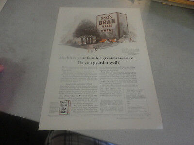 Rare 1924 POSTS Bran Flakes and Wheat Advertisement